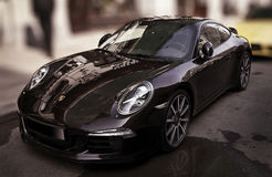 Porsche noc Zdjęcia Royalty Free