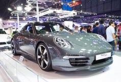 Porsche 911 på expo för Thailand Internationalmotor Arkivbilder