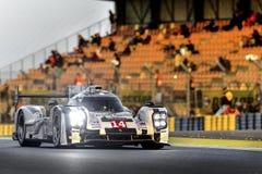 Porsche 919 på Le Mans Fotografering för Bildbyråer