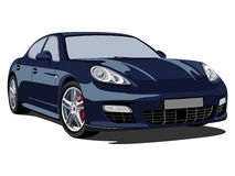 Porsche panamera. Illustration of a Porsche Panamera Turbo 2010 Royalty Free Stock Photos