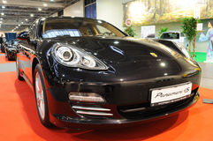 Porsche Panamera 4S. On display at the Auto Show Poland Stock Photos