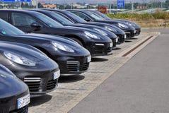 Porsche Panamera bilar Royaltyfri Fotografi
