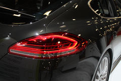 Porsche Panamera tail lamp rear close up detail Royalty Free Stock Image