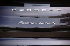 Porsche Panamera Turbo S Fotografia de Stock Royalty Free