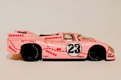 1971 Porsche 917-20 Pink Pig 1:43 model. A model of the famous Porsche 917-20 Pink Pig that raced at Le Mans in 1971 in 1:43 scale Stock Photography