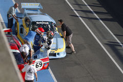 Porsche 935 at the pit royalty free stock image