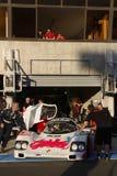 Porsche at the pit Stock Photos