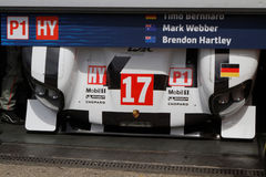 Porsche 919 in the pits Stock Photography