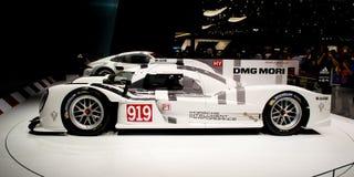 Porsche 919 première Genève 2014 Royalty-vrije Stock Foto's