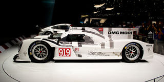 Porsche 919 premiere Geneva 2014 Royalty Free Stock Photos
