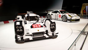 Porsche 919 premiere Geneva 2014 Royalty Free Stock Image