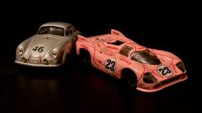 Porsche prototypes diecast models Royalty Free Stock Photo