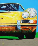 Porsche przodu nosa obraz obraz stock