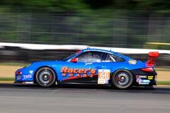 Porsche 911 que compite con Imagen de archivo