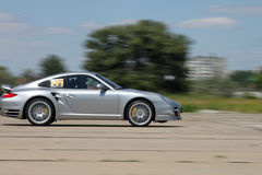 Porsche on a race. Porsche 911 on a race, Coolbakino Fest Stock Images