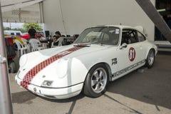 Porsche race car in display Stock Photos