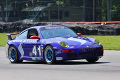 Porsche 997 race car Stock Photo