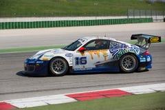 PORSCHE 997 racerbil GT3 Royaltyfri Foto