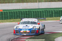 PORSCHE 997 racerbil GT3 Fotografering för Bildbyråer
