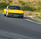 Porsche 914 on racetrack Royalty Free Stock Image