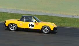 Porsche 914 on racetrack Royalty Free Stock Photography