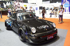 Porsche 911 racing modifications car by gopro on display at The Royalty Free Stock Image