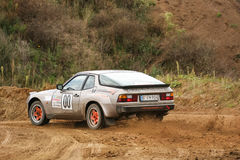Porsche Rallye bil royaltyfri bild