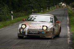 Porsche Rallye bil royaltyfria foton