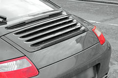 Porsche rear car panel Stock Photos