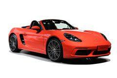 Porsche. A red Porsche which type is 718 Boxster S Royalty Free Stock Photos