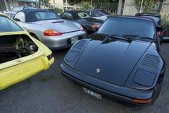 Porsche repair shop Stock Images