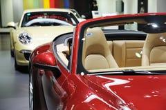 Porsche rossa Fotografia Stock Libera da Diritti