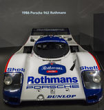 1986 Porsche 962 rothmans Royalty-vrije Stock Foto's