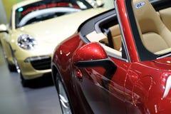 Porsche rouge Image libre de droits