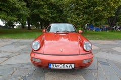Porsche rouge 911, model 964 photographie stock