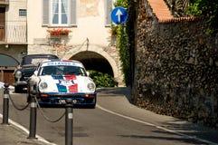 Porsche 911 RS på Bergamo den historiska granda prixen 2017 Arkivfoton
