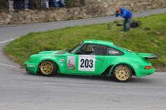 Porsche 911 RS  race during the 64th Sanremo rally. Conducted in the race crew Lucky-Pons Stock Photography