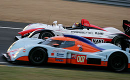 Porsche RS Spyder (corsa della le Mans 24h) Fotografie Stock Libere da Diritti