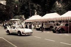 Porsche 911 RSR på Bergamo den historiska granda prixen 2015 Royaltyfri Foto
