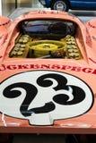 Porsche 917 Sau för 20 kupé den tävlings- bilen från 1971 ge någon ett smeknamn Ping Pig Royaltyfri Bild