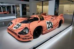 Porsche 917 Sau för 20 kupé den tävlings- bilen från 1971 ge någon ett smeknamn Ping Pig Royaltyfri Foto