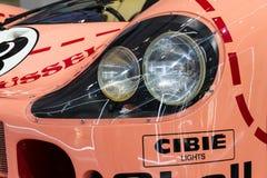 Porsche 917 Sau för 20 kupé den tävlings- bilen från 1971 ge någon ett smeknamn Ping Pig Arkivfoto