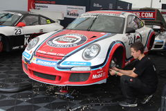 Porsche-Schale in Deutschland Stockfoto