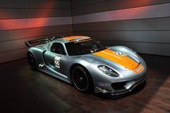 Porsche Section, Dubai Motor Show 2011. Dubai Motor Show 2011 Porsche Section royalty free stock photos