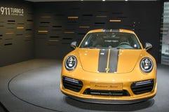 Porsche 911 serie di esclusiva di Turbo S Fotografia Stock Libera da Diritti
