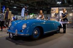 Porsche 356 Snelheidsmaniak Milaan Autoclassica 2014 Stock Foto