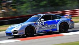 Porsche 997 som springer Arkivbild