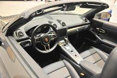 Porsche Sports Car Interior Stock Images