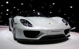 Porsche Spyder bij de IAA-Auto's Stock Afbeelding