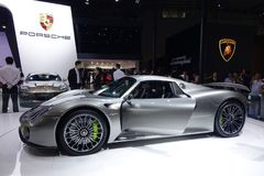 Porsche 918 spyder Royalty Free Stock Photo